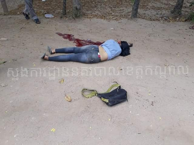 Man hacks his ex-girlfriend to death outside a school, jumps off bridge in suspected suicide attempt (photos)