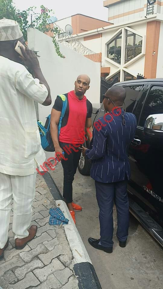 Video of Dilly Umenyiora being picked up by the police at the gym for attempted murder of Runtown
