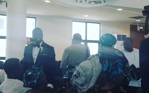 First photos from the church wedding of Donald Duke
