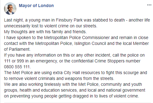 Young Ghanaian man stabbed to death in London