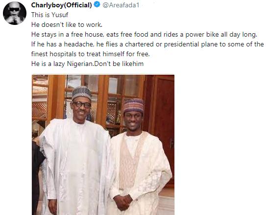 Savage! Charlyboy trolls President Buhari