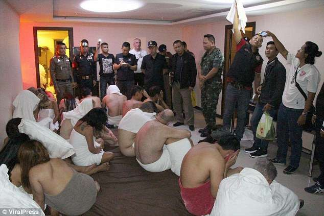 Elderly men and young girls bursted during illegal Thailand hotel orgy (Photos/video)