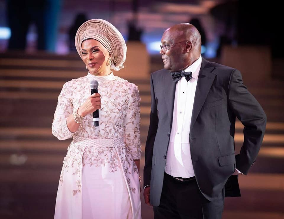 Lovely photo of Atiku Abubakar and his wife, Jemila