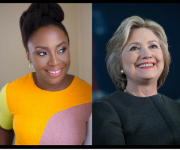 "Chimamanda Ngozi Adichie confronts Hillary Clinton on why her Twitter bio leads with ""wife"""