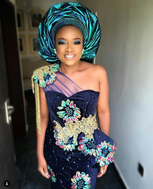 Xerona Duke and DJ Caise wedding Aso Ebi reportedly cost N225K