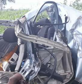 Driver killed in car accident in Delta state; help needed to locate his relatives (graphic photos)