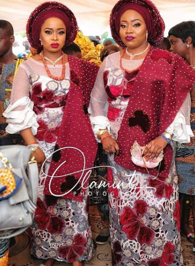 80-year-old Alafin Of Oyo And his Oloris at the naming ceremony of their set of twins