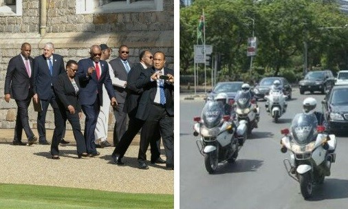 African Presidents In London Vs When They Are Back Home