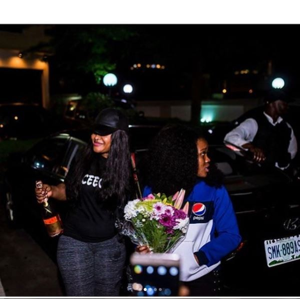 Incase you missed it, here are photos of Cee-C being presented with a cheque of N2m from her fans