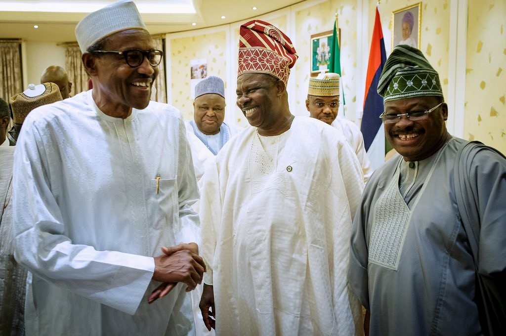 Photos: President Buhari meets with APC governors in Abuja