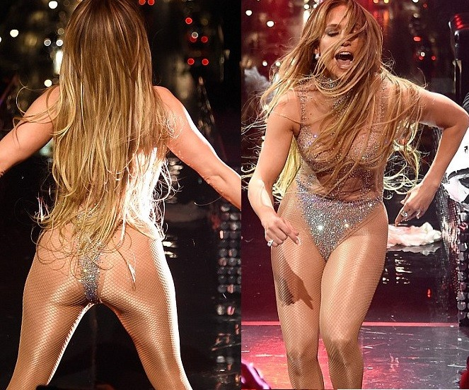 Jennifer Lopez performs onstage in sexy sequined thong and fishnet stockings at Time 100 Gala (Photos)