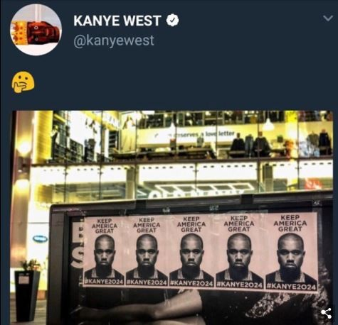 Kanye West campaign posters appearing all over New York City, Chicago and Los Angeles with the hashtag #Kanye2024 ?(Photos)