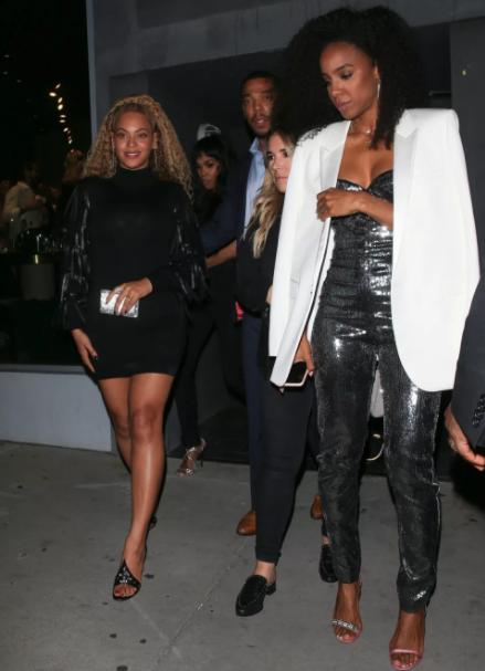 Beyonce in mini dress as she