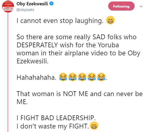 Oby Ezekwesili reacts to claims she had a quarrel with Kemi Adeosun on a plane