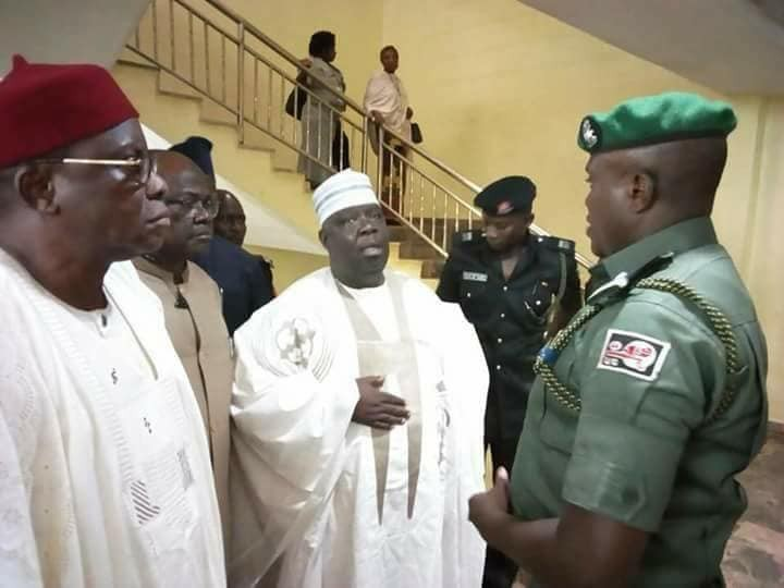 Photos: Senate delegation denied access to see Dino Melaye at the hospital