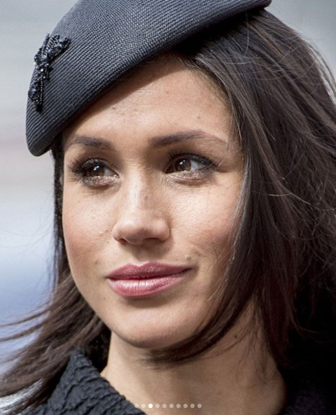 Meghan Markle looks regal in all black outfit as she joins Prince Harry and Prince William for Anzac Day service (photos)