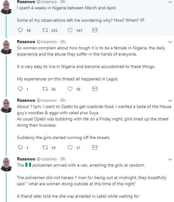 Man narrates his experience in Nigeria as regards the way women are treated in the country