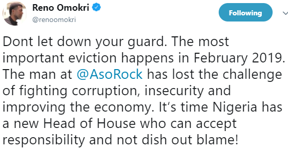 Reno Omokri says Nigeria needs a new head of house,