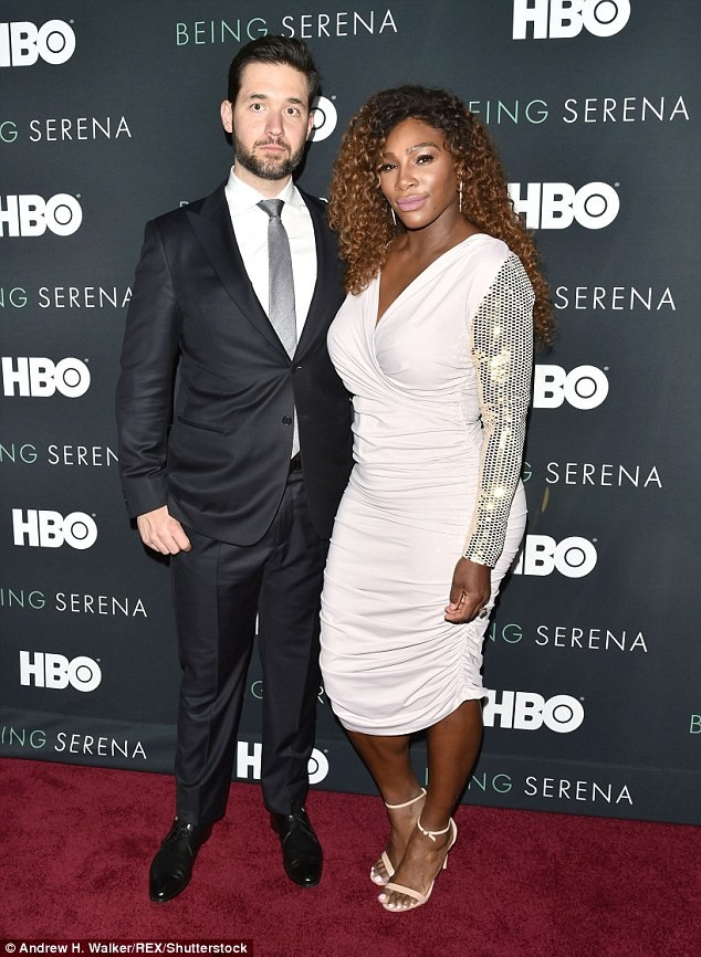 Serena Williams stuns in white bodycon dress as she attends the premiere of her HBO documentary (Photos)