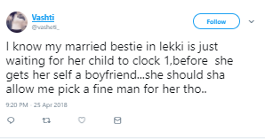 Twitter user celebrates her best friend who is about to cheat on her husband