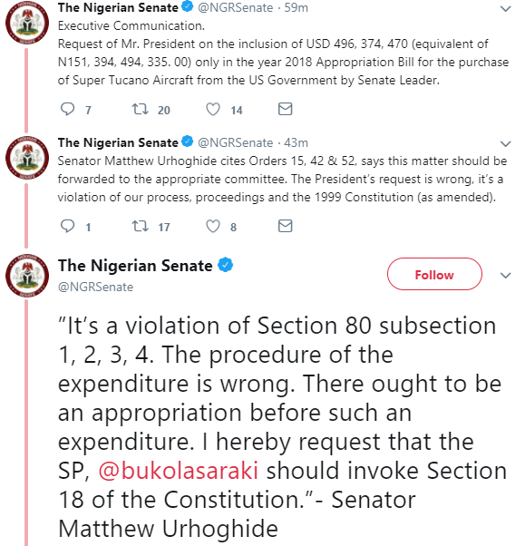 Breaking: Senators call for President Buhari?s impeachment