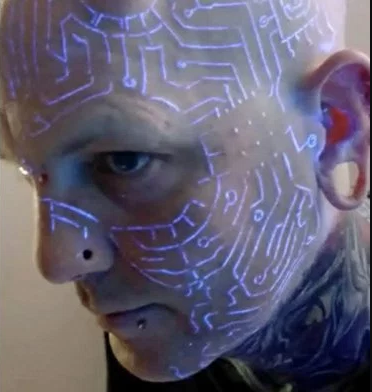 ?Transhumanist? has gone through hundreds of body modifications to evolve with technology and time (photos)