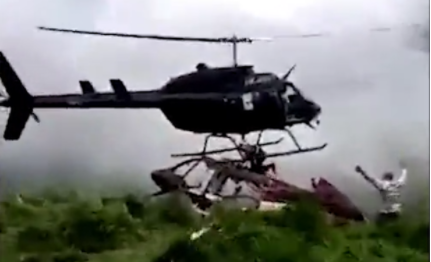 Man sliced to death by helicopter that came to rescue him (video)