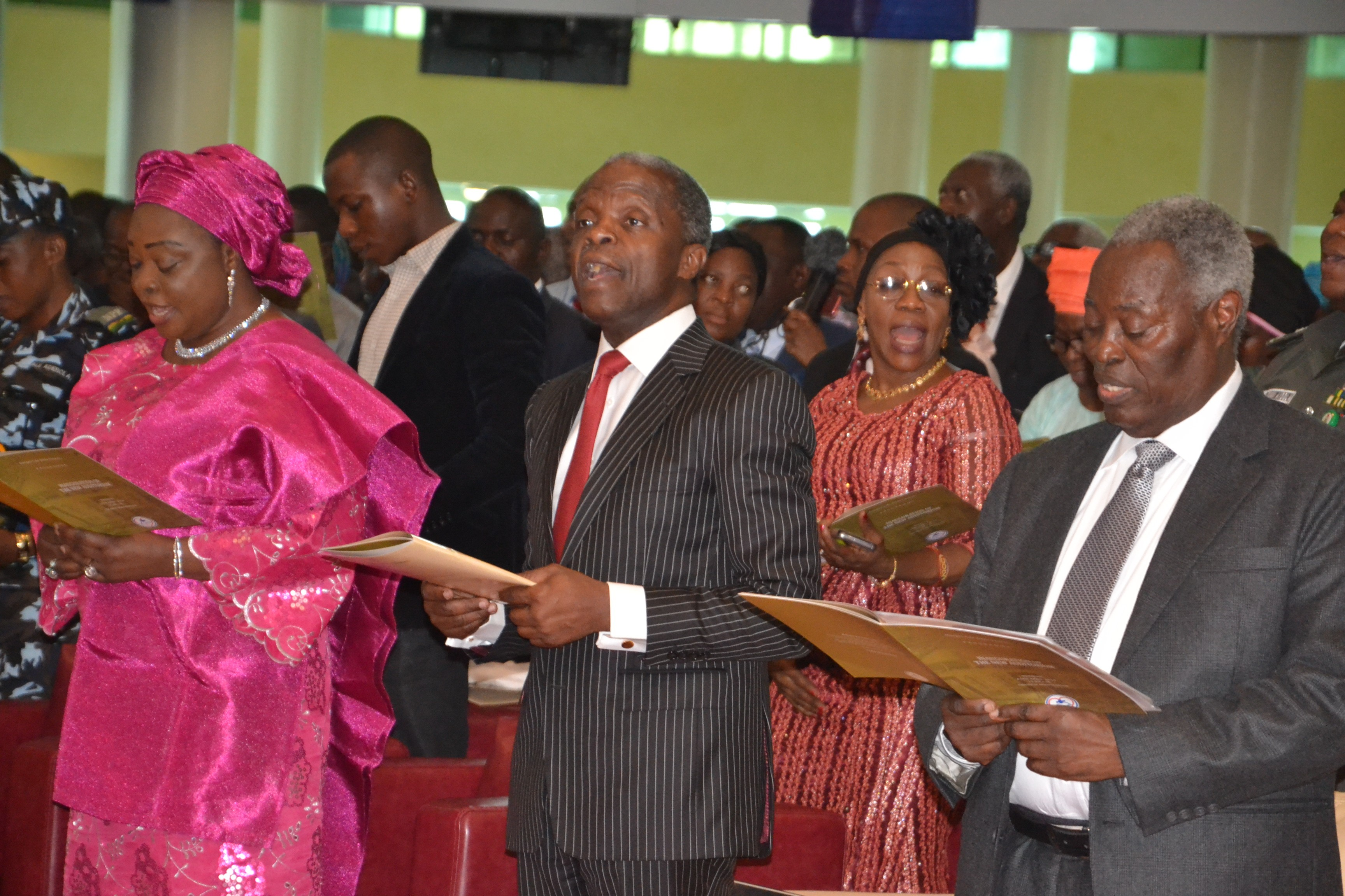 Vice President Osinbajo Commissions new Deeper Life Church, speaks against persecution of Christians