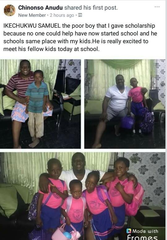 Heartwarming! Nigerian man enrolls a