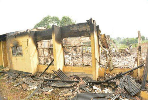 Unknown gunmen burn down INEC office In Rivers State