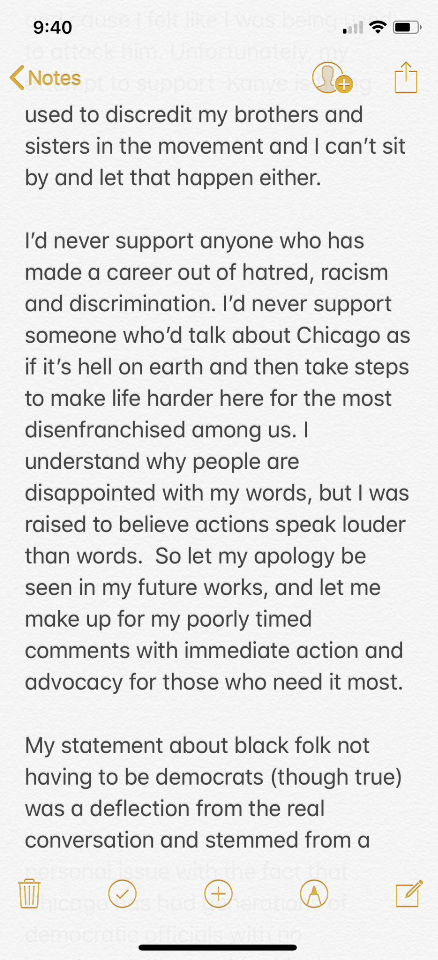 Alakoba! Chance the Rapper rejects thank you from Trump, clarifies his tweet supporting Kanye