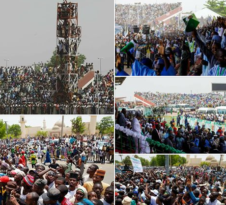 President Buhari denies hiring the massive crowd that usually welcomes him during any state visit