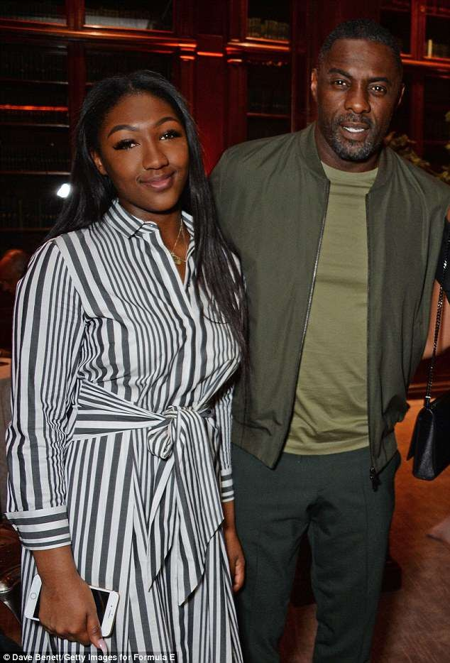 Idris Elba parties with his daughter Isan, and fianc?e Sabrina at Formula E bash (Photos)