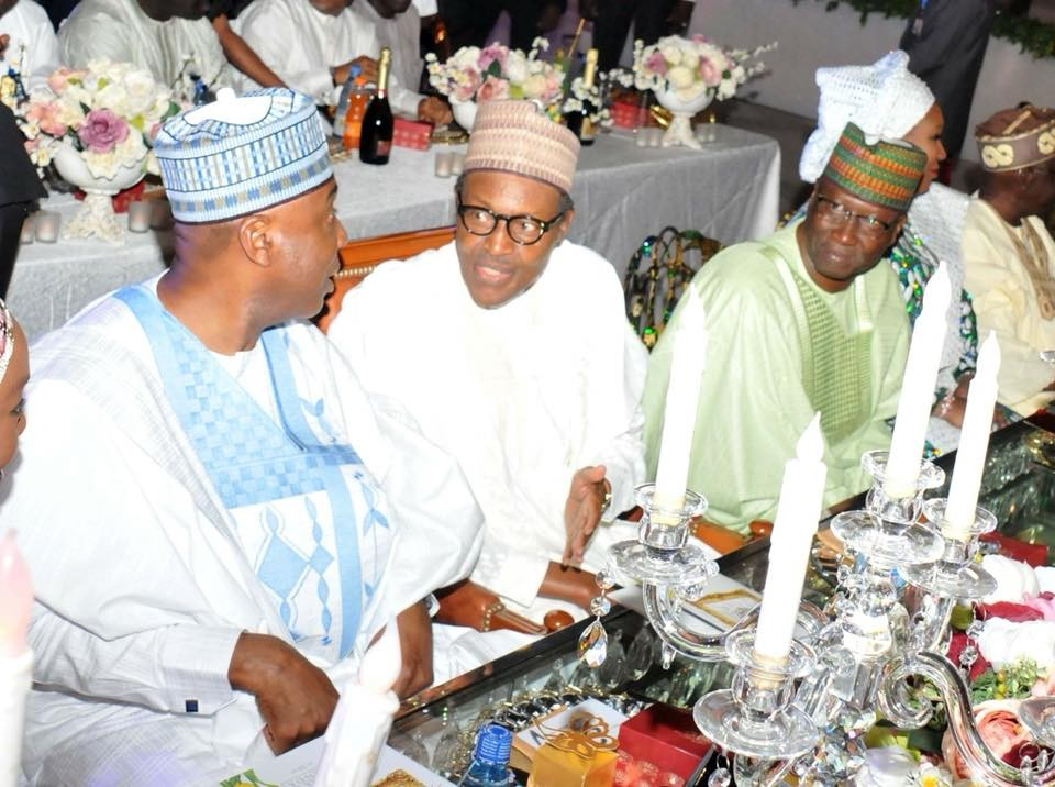Photos: President Buhari, Tinubu, Saraki, others attend wedding reception of SGF Mustapha Boss
