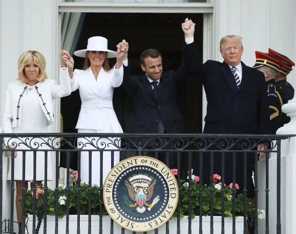 "Brigitte Macron says Melania Trump is like ""a prisoner in the White House"""