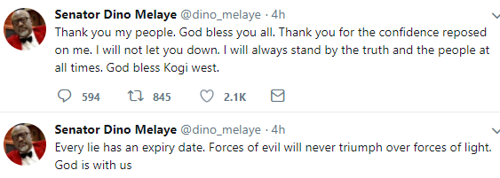 Dino Melaye reacts to failure of his recall process in Kogi