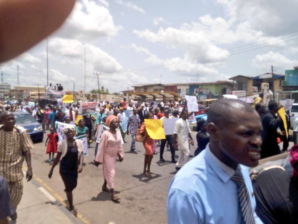 Photos: Christians in Jos, Kaduna and Plateau state protest recent attacks on Christians in Benue