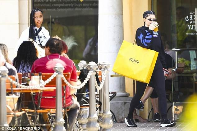 Kylie Jenner debuts Dutch braids hairdo as she steps out with best friend Jordyn Woods for shopping in Los Angeles (Photos)
