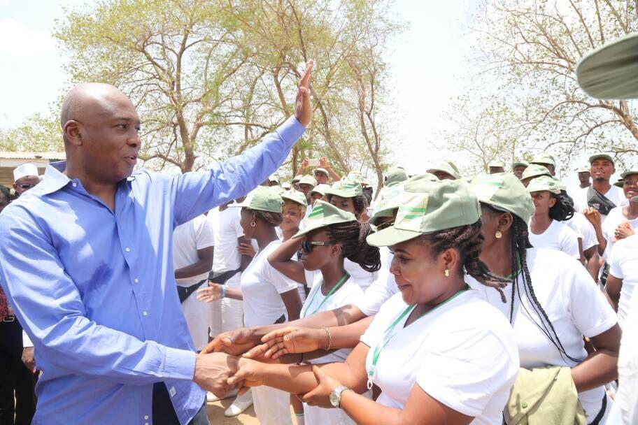 Photos: Bukola Saraki visits NYSC camp ground in Kwara following death of female corps member