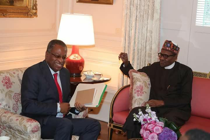 Photos: President Buhari arrives US ahead of his meeting with President Donald Trump