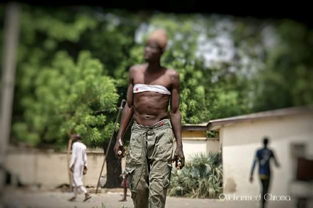 See what drug addiction did to a once hardworking young man in Maiduguri