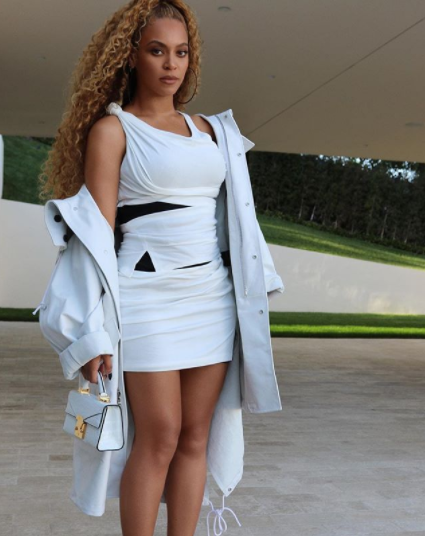 Beyonce slays in all white ensemble