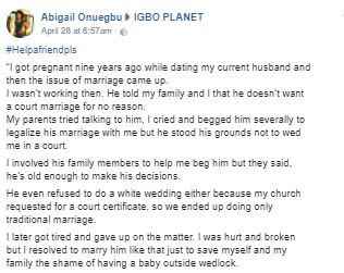 Man who refused to legally marry his baby mama for 9 years is now begging to wed her after she got opportunity to relocate to US