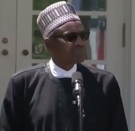 Video: President Buhari reacts to Donald Trump