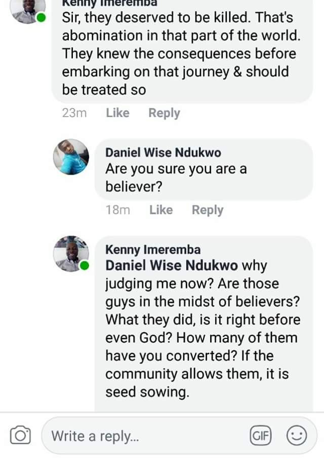 Pastor Awuzie replies man who said the gay men caught deserve to be killed - 'No gay deserves to die'