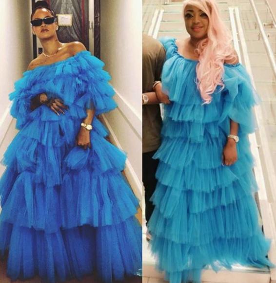 Rihanna vs Tayo Sobola: Who rocked this frilly blue dress better?