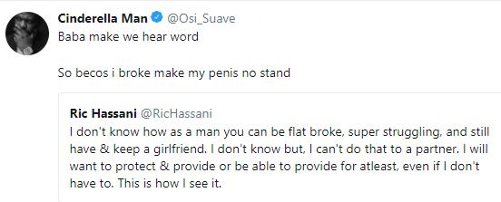 Bonario Nnags, OAP Osi Suave react to singer, Ric Hassan