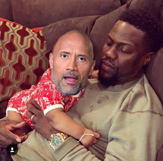 "Kevin Hart gets his revenge on Dwayne ""The Rock"" Johnson by trolling him back"