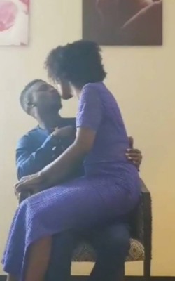 Ex BBNaija housemates, Lolu and Anto share first public kiss after leaving the Big Brother house