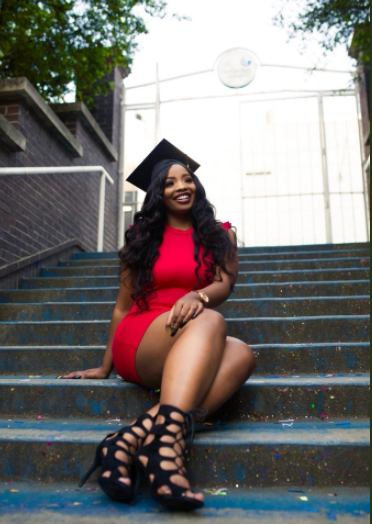 Lady who became a stripper in order to put herself through college celebrates her graduation